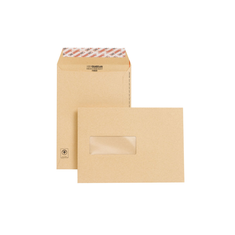 New Guardian Manilla C5 Window Envelopes 130gsm, Pack of 250 - F26639