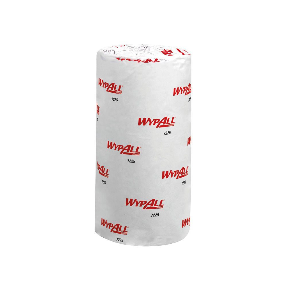 Wypall White L10 Food and Hygiene Compact Roll, Pack of 24 - 7225