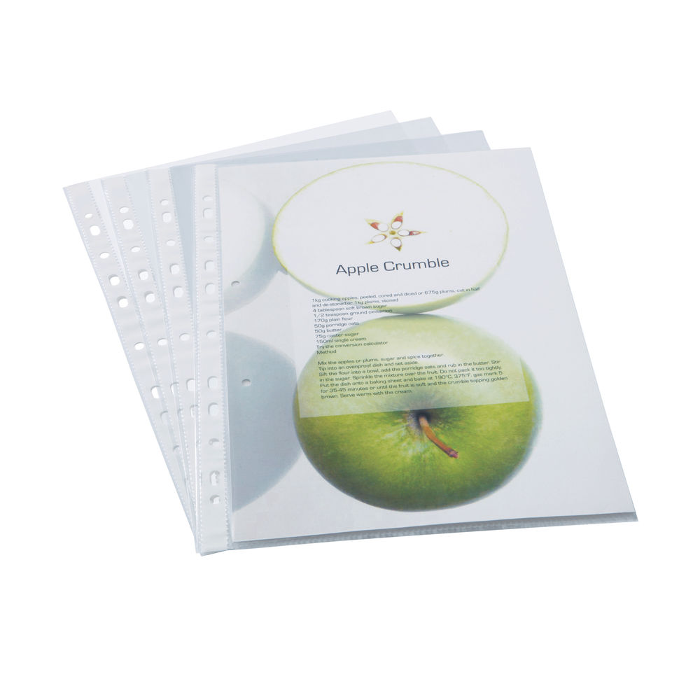 Rapesco Eco Punched Pockets A4 Clear (Pack of 100) 1104