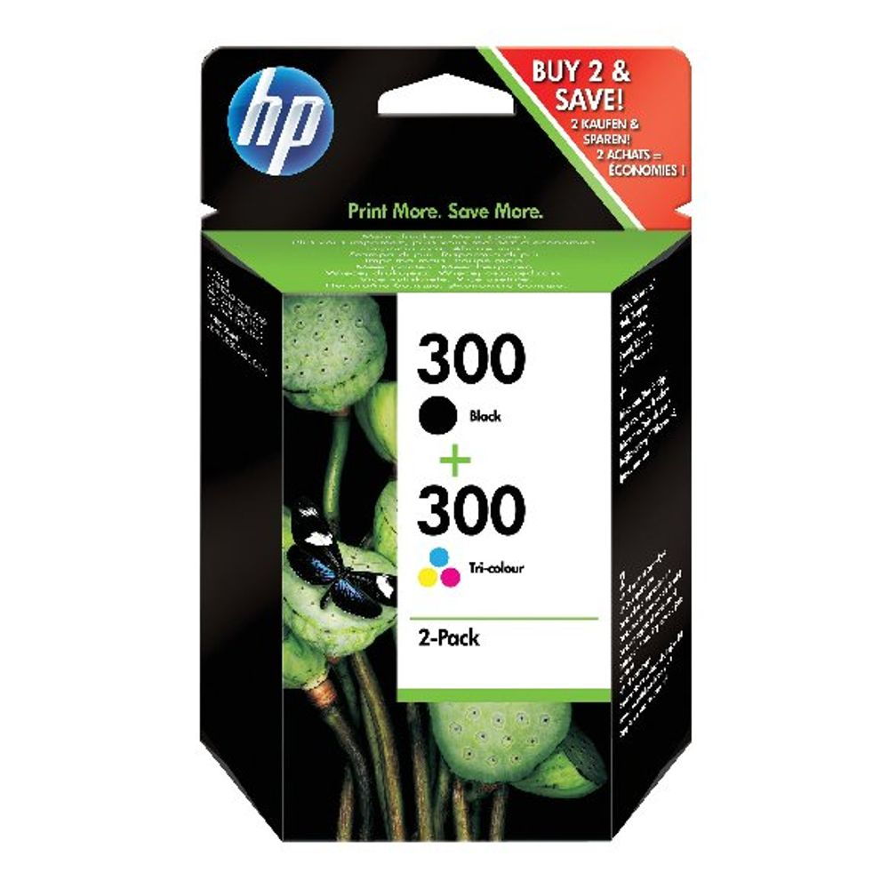 HP 300 Black and Tri-Colour Ink Dual Pack - CN637EE