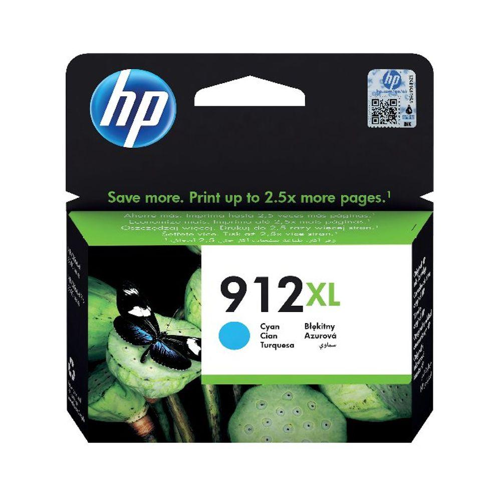 HP 912XL Cyan Ink Cartridge - High Capacity 3YL81AE