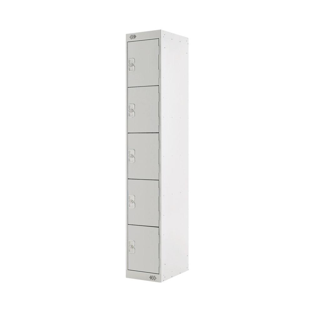 Five Compartment D300mm Light Grey Locker - MC00026