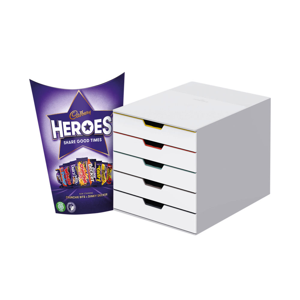 Durable Varicolor Mix 5 Drawer Unit FOC Heroes 185g DB810755