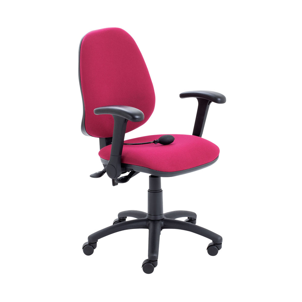 Jemini Intro High Back Posture Chair Folding Arms in Claret