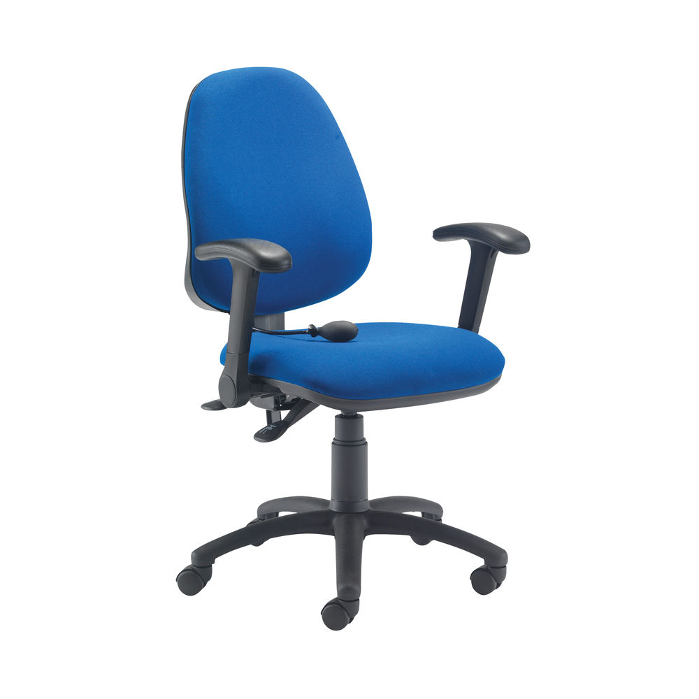 Jemini Intro High Back Posture Chair Folding Arms in Royal Blue
