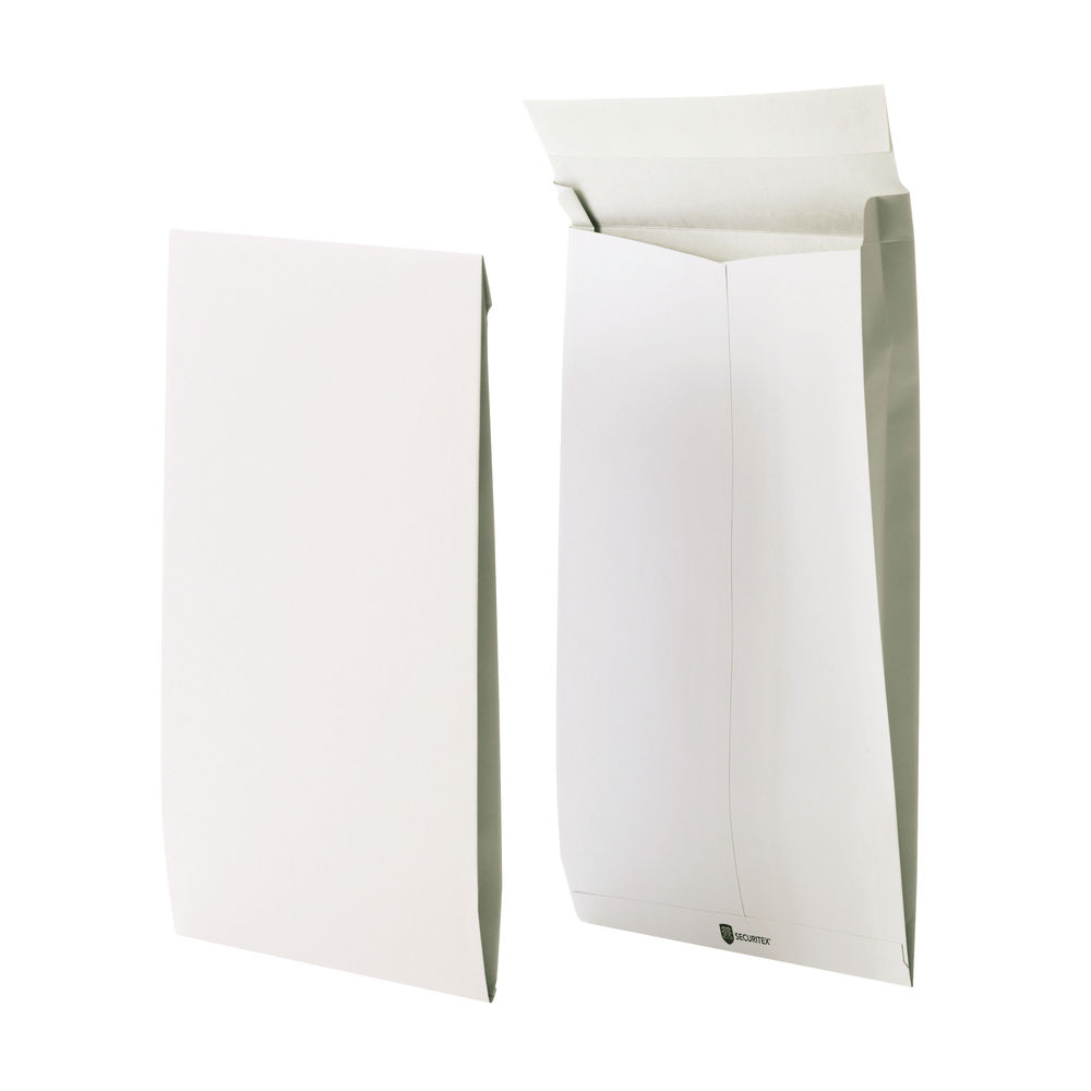 Securitex White C4 Tear Resistant Security Envelopes 130gsm - Pack of 50 - 83502