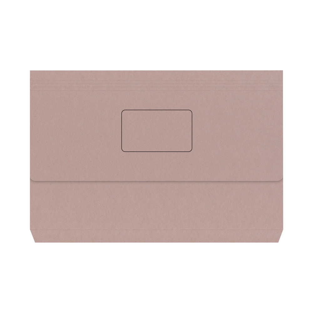 Buff Foolscap Document Wallets (Pack of 50) - 45912PLAI