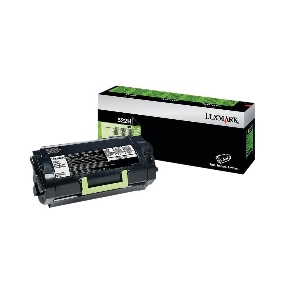 Lexmark 522H Black High Yield Toner Cartridge 52D2H00