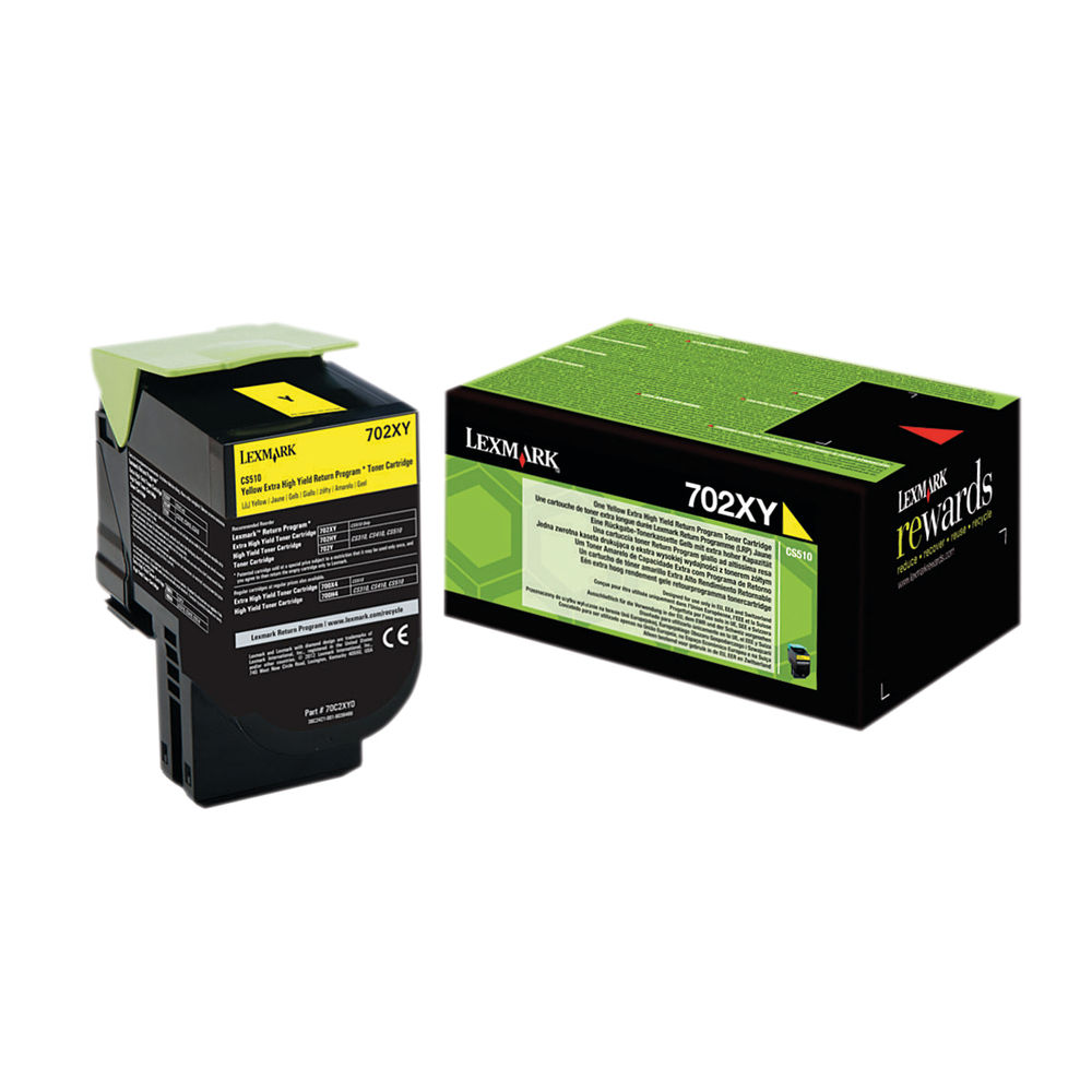 Lexmark 702XY Yellow Extra High Yield Toner Cartridge 70C2XY0