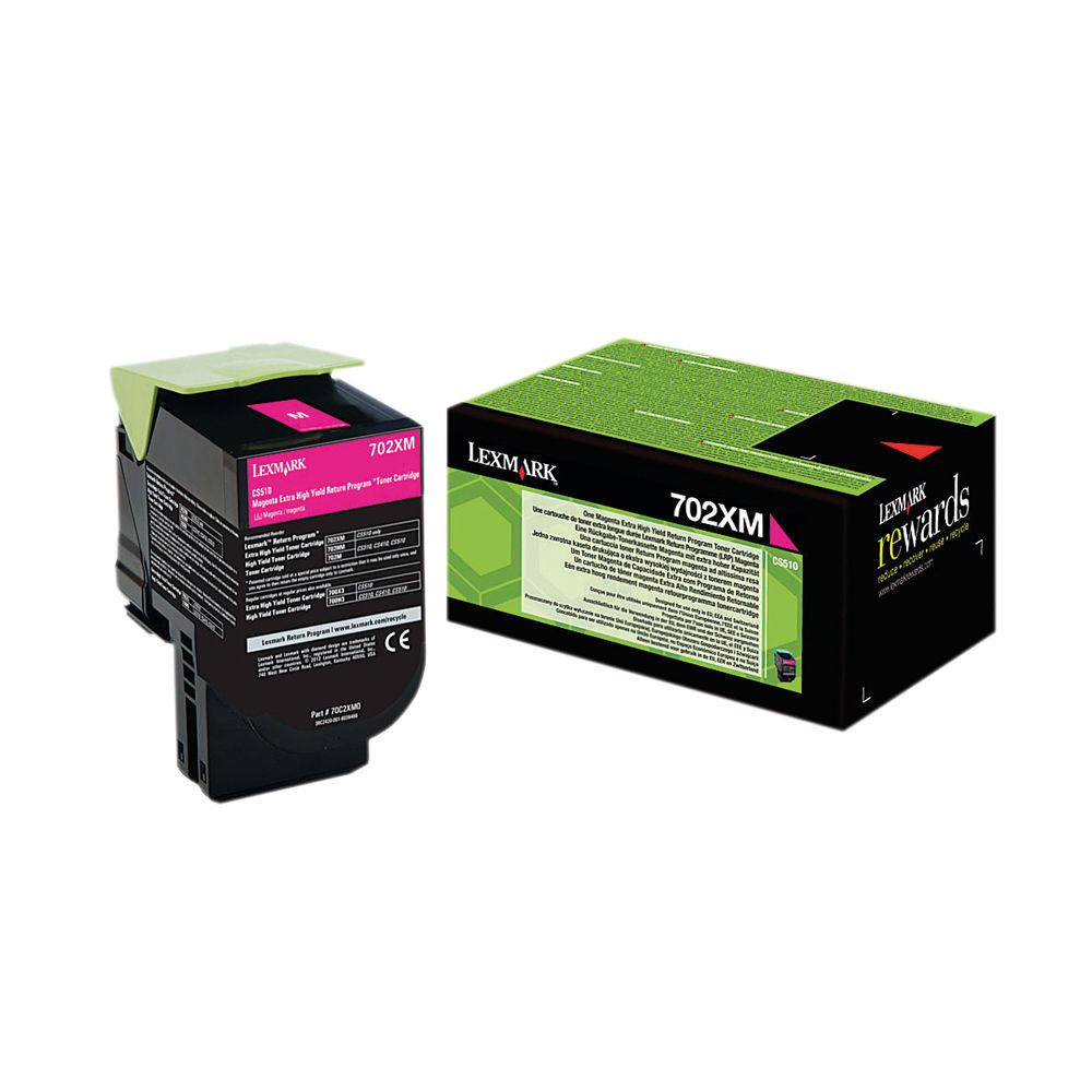 Lexmark 702XM Magenta Extra High Yield Toner Cartridge 70C2XM0