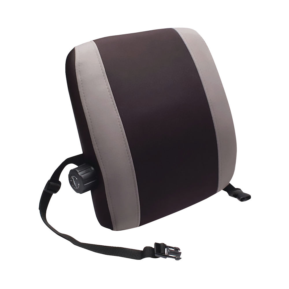 Contour Ergonomics Black/Grey Premium Lumbar Back Support – CE77701