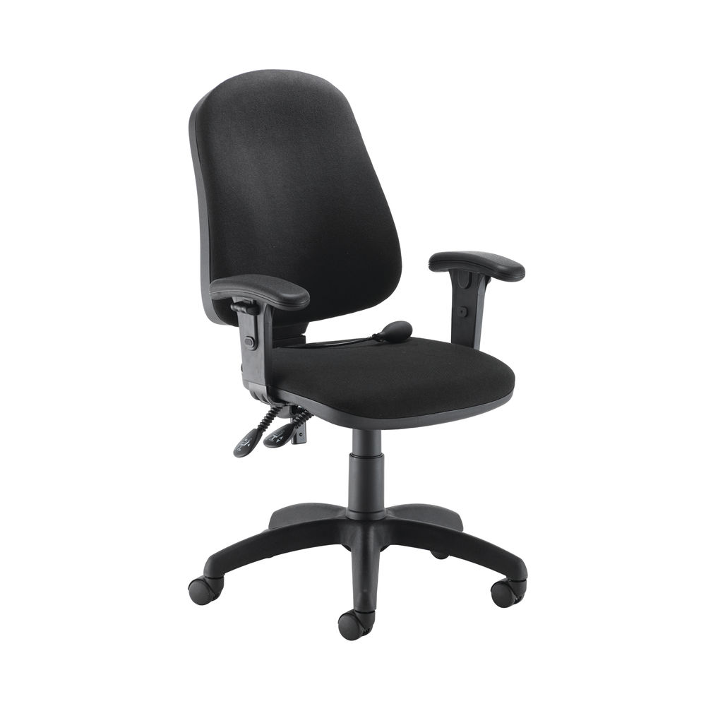 Jemini Intro Charcoal Posture Office Chair with Arms