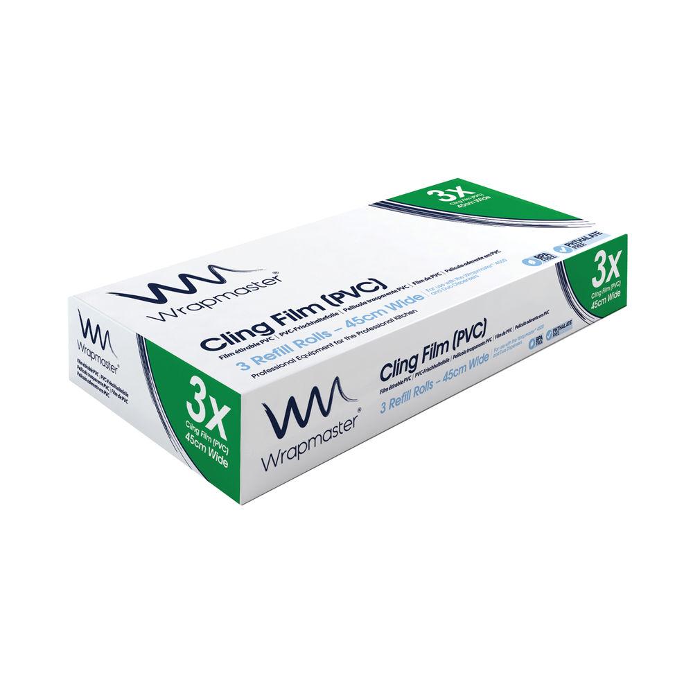 Wrapmaster 4500 450mm x 300m Cling Film Refills, Pack 3 - 31C81