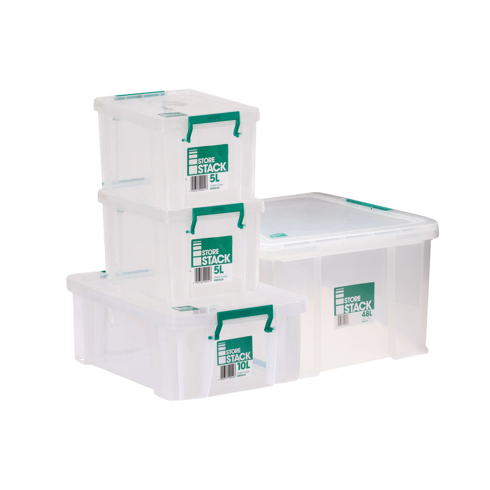 Storestack Box Bundle 2x5L 10L 48L (Pack of 4) 48LBUNDLE