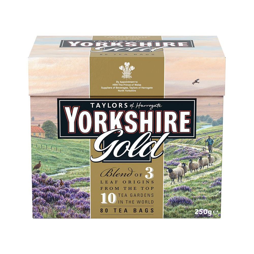 Yorkshire Tea Gold Tea Bags (Pack of 80) 403378