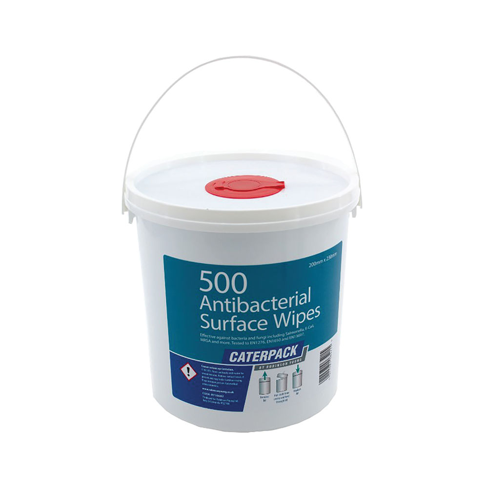 Caterpack Antibacterial Surface Wipes (Pack of 500) – 10682