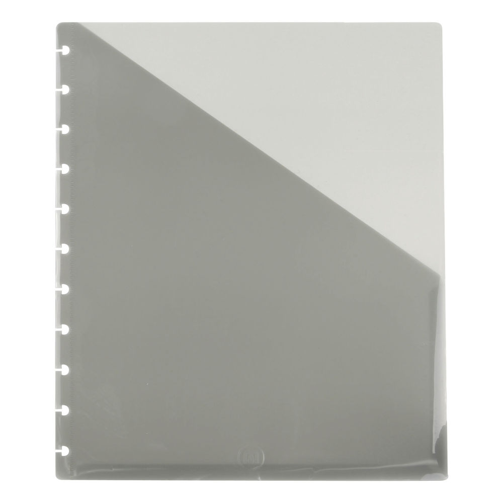 M By Staples ARC Notebook Pocket Dividers A4 Smoke (Pack of 2) 8851093