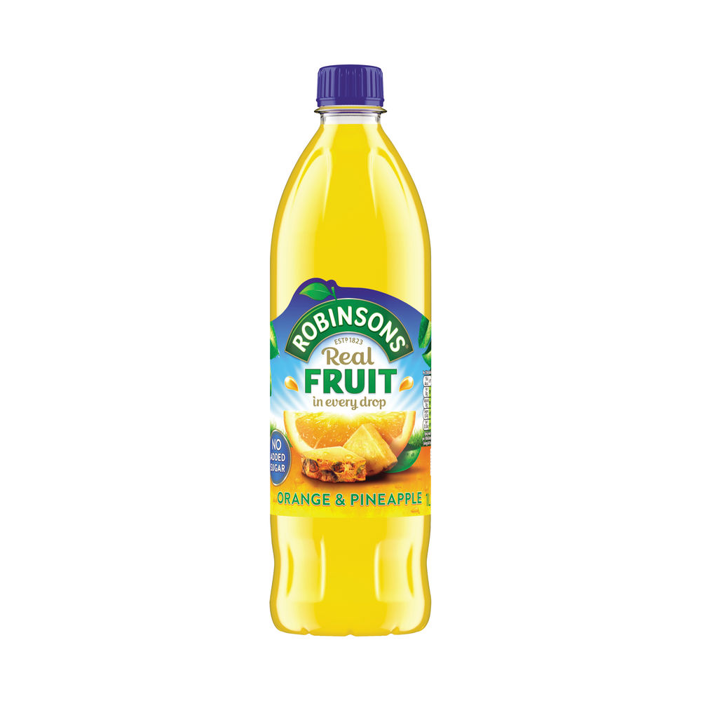 Robinsons Orange and Pineapple Squash No Added Sugar Low Calorie 1 Litre 0402018