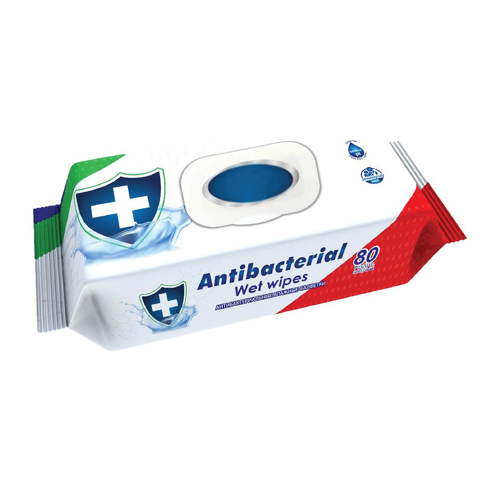 Antibacterial and Antifungal Wet Wipes (Pack of 80) ABW80