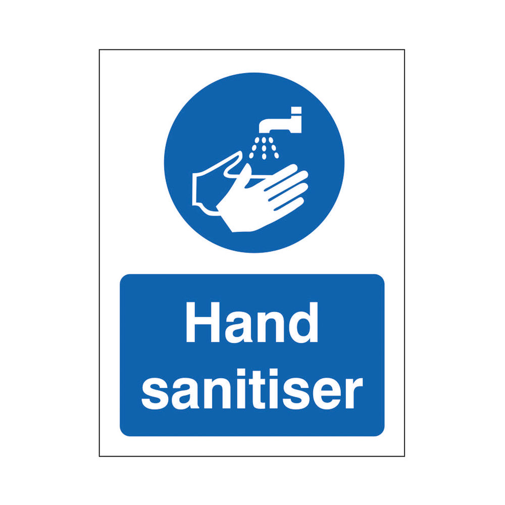 Safety Sign Use Hand Sanitiser SAV 200 x 300mm M400SAV-200X300