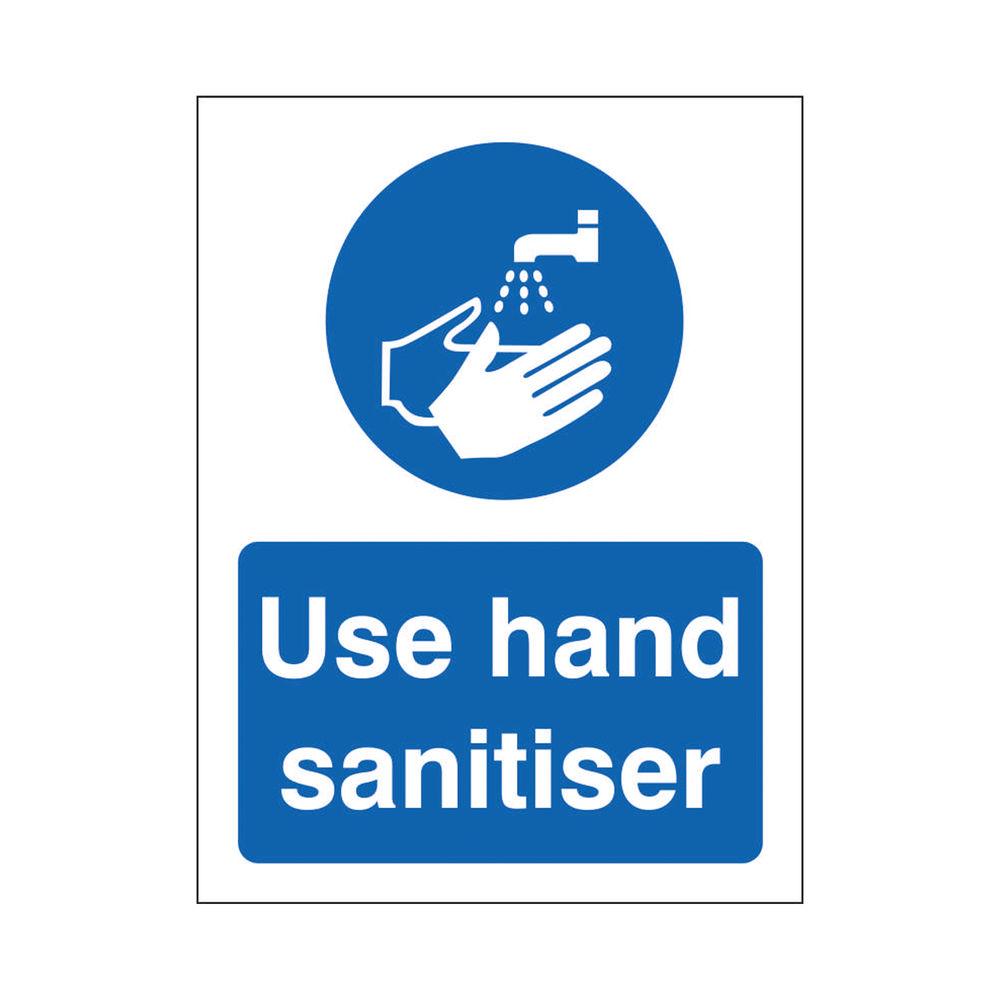 Safety Sign Use Hand Sanitiser SAV 200 x 300mm M401SAV-200X300