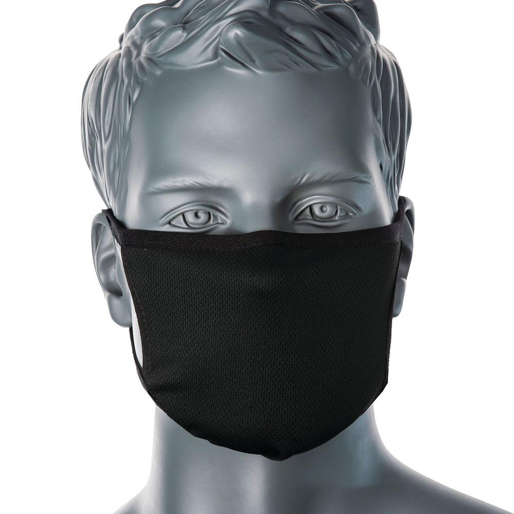 Reusable Protective Face Mask 3-Ply Anti-Microbial Black CV33BLK