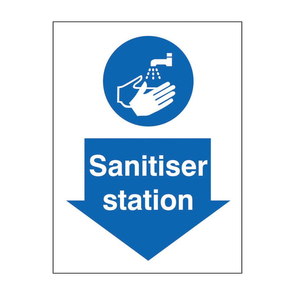 Safety Sign Sanitiser Station SRP 200 x 300mm M402SAV-200X300