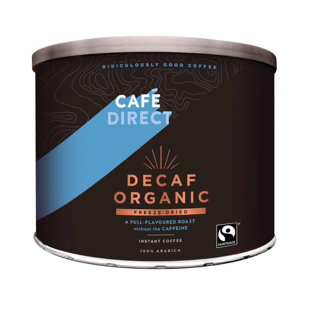 Cafedirect Decaff Organic Freeze Dried Coffee Tin 500g TW141002