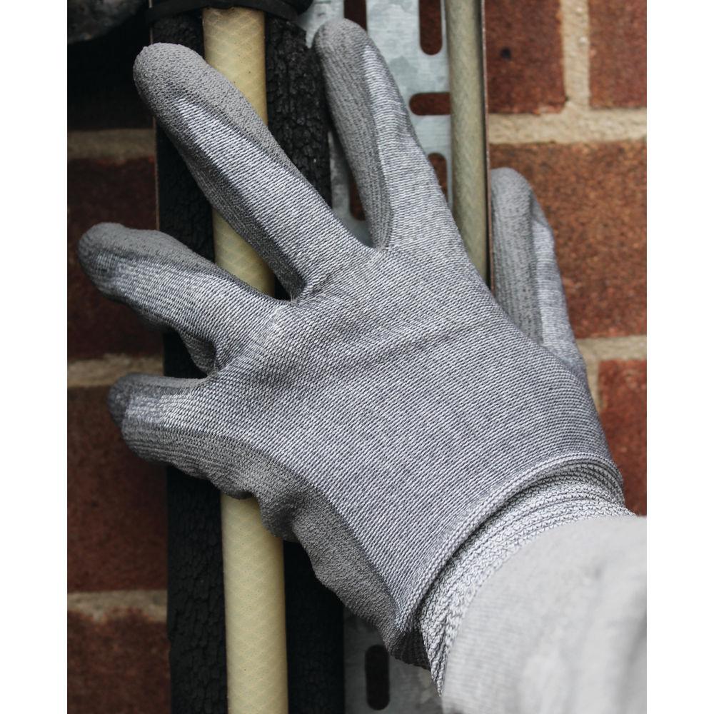 Polyco Size 8 Grey C3 Cut Resistant Polyurethane Coated Nylon Gloves - 9891