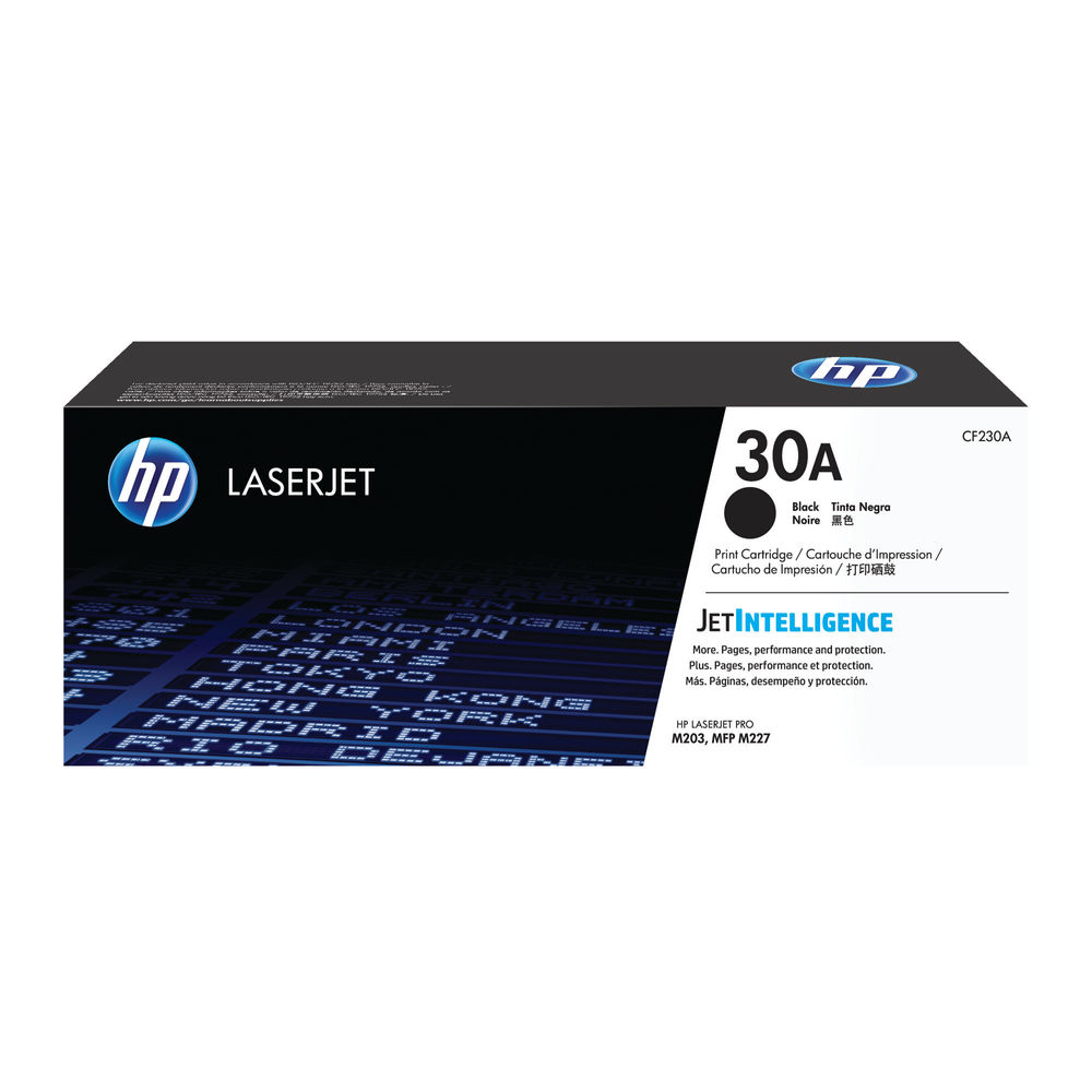 HP 30A Black Laserjet Toner Cartridge - CF230A