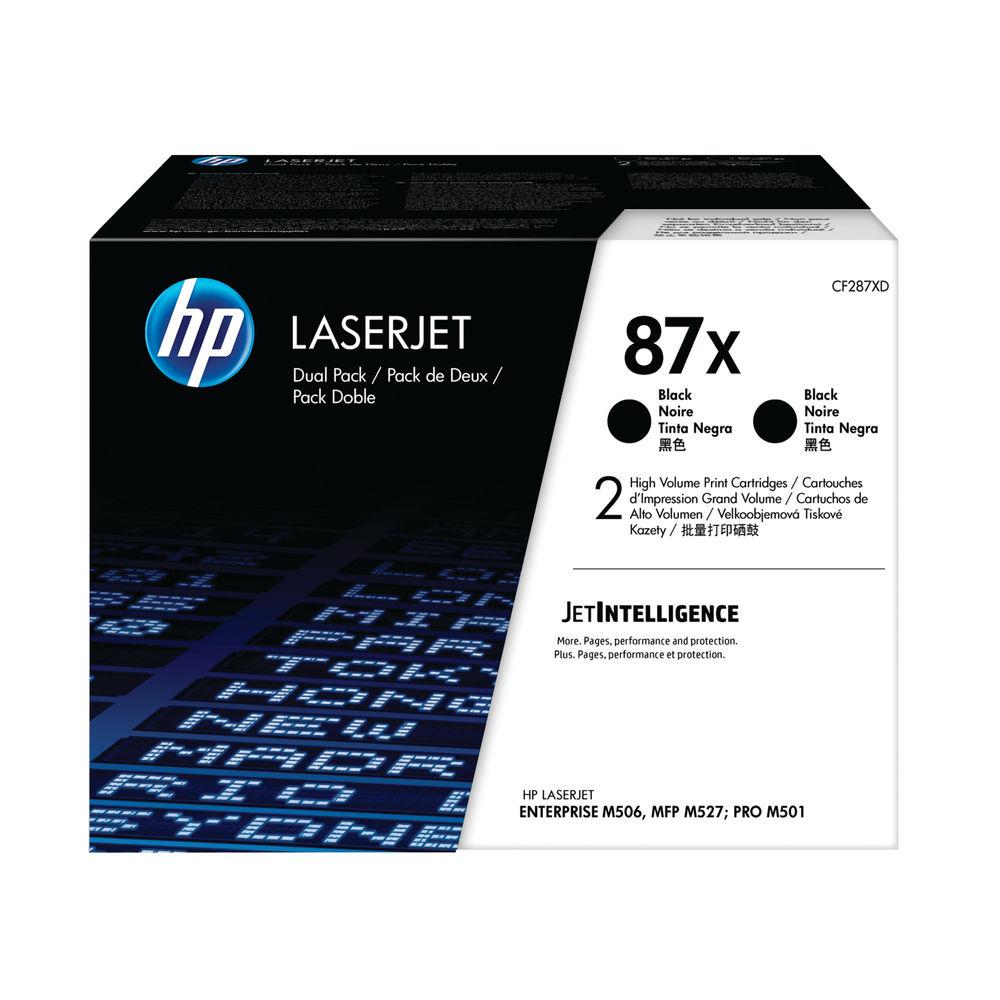 HP 87X High Yield Black Laserjet Toner Cartridge (Pack of 2) CF287XD