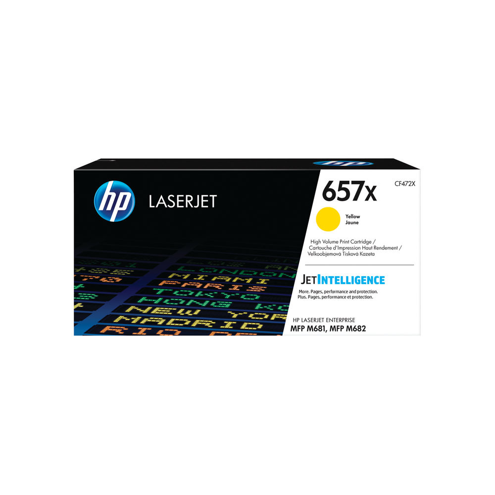 HP 657X High Yield Yellow LaserJet Toner Cartridge CF472X