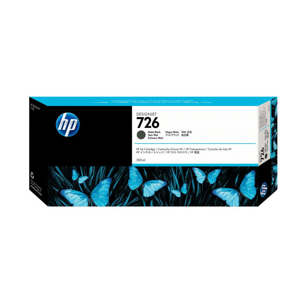HP Matte Black 726 Ink Cartridge 300ml CH575A