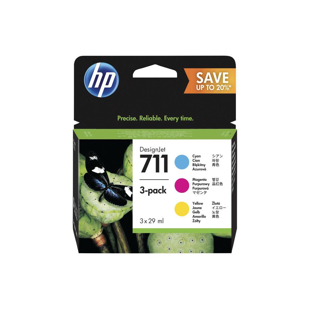 HP 711 Ink Cartridge Multipack - P2V32A