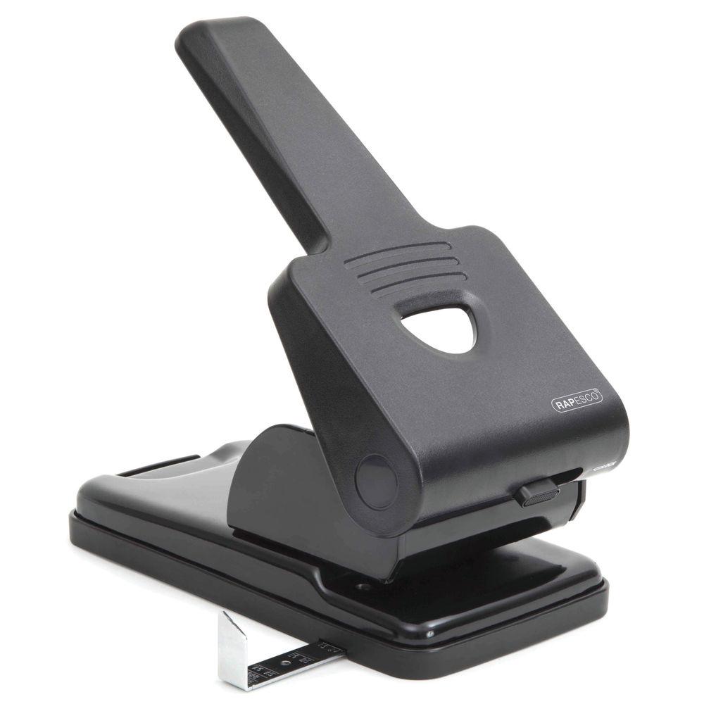 Rapesco 865-P Heavy Duty Hole Punch Black PF865PB2