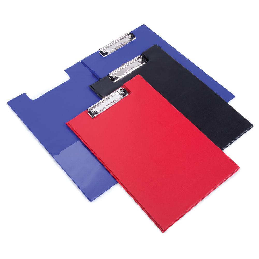 Rapesco Foldover Clipboard with Interior Pocket Foolscap Red VFDCB0R3