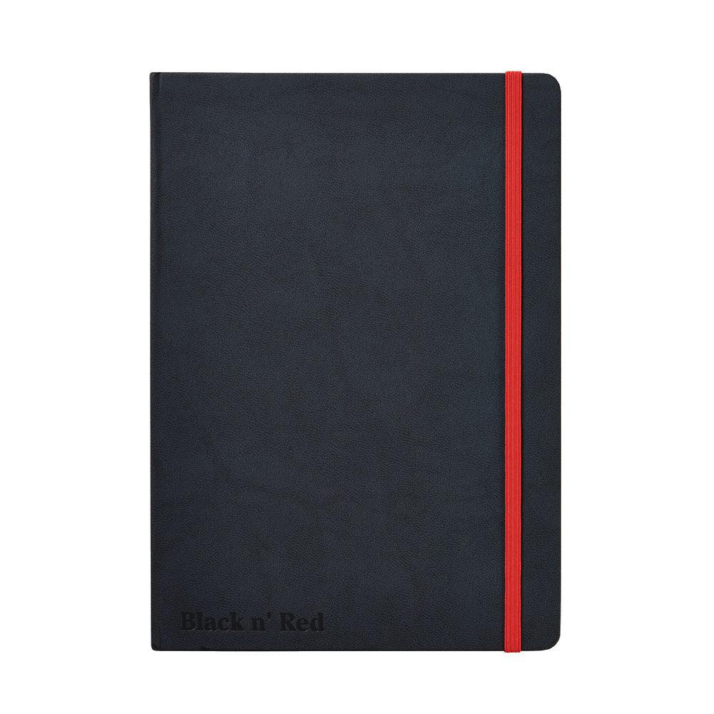 Black N' Red Casebound Hardback Notebook A5 Black 400033673