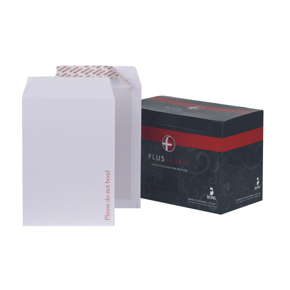 Plus Fabric C4 Envelopes Board Back Peel and Seal 120gsm White (Pack of 125) K29470
