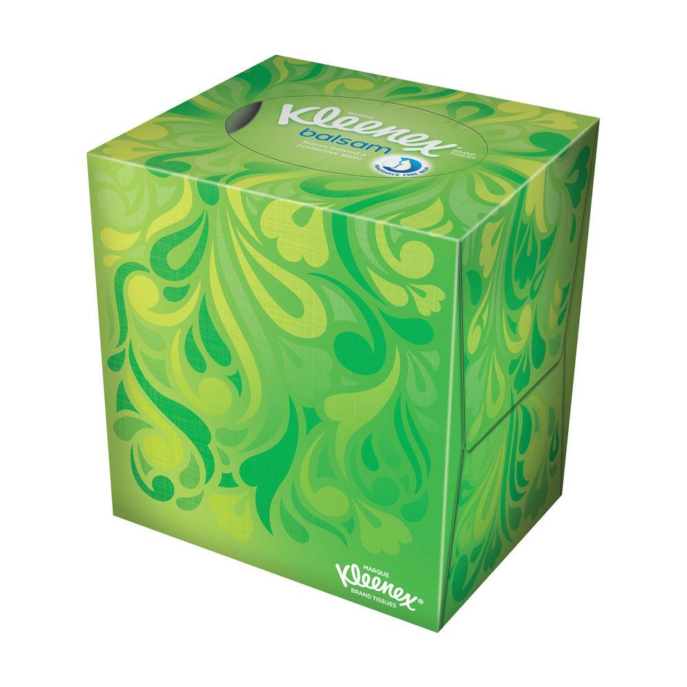 Kleenex Balsam Facial Tissue Cube, 56 Sheets, Pack of 12 - 8825