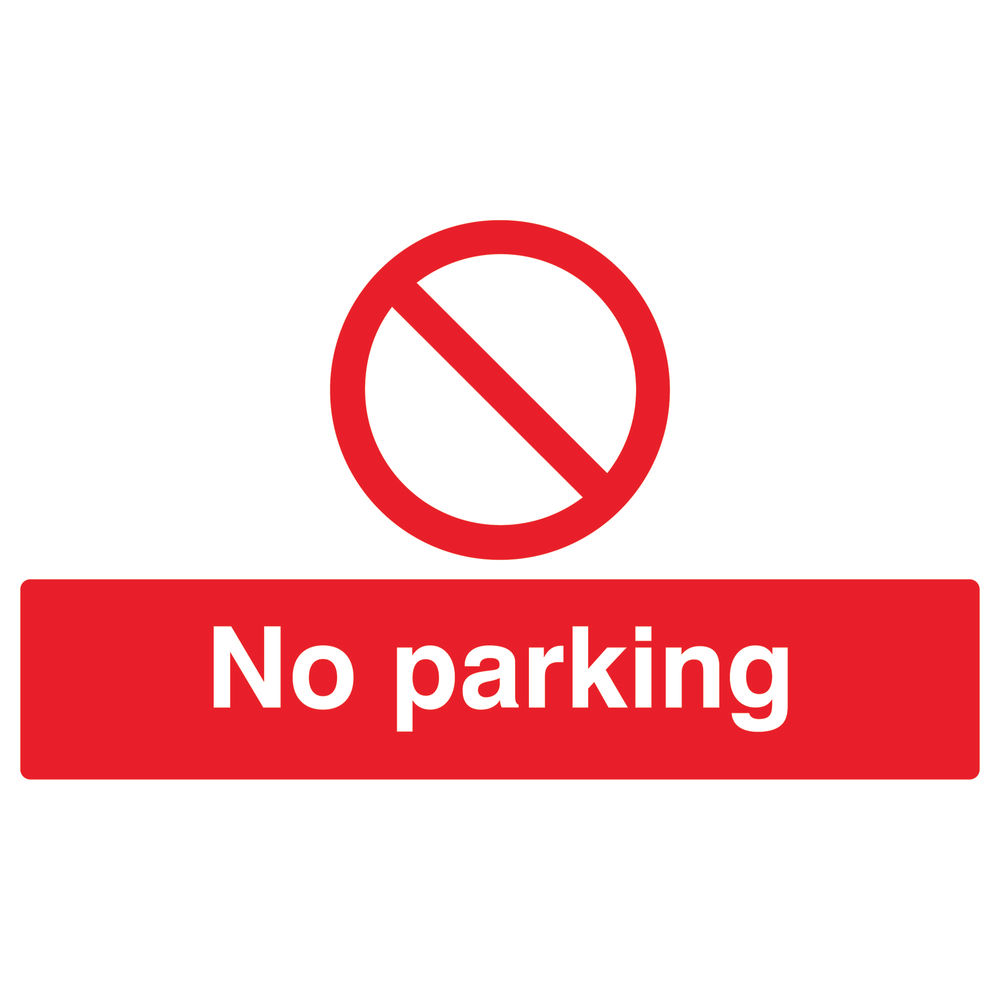 No Parking 300 x 500mm PVC Safety Sign - ML01928R