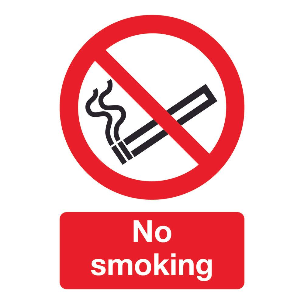 No Smoking A5 PVC Safety Sign - ML02051R