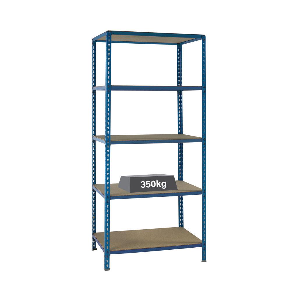 W1200 x D600mm Blue Medium Duty Bays Shelving Unit - 379626