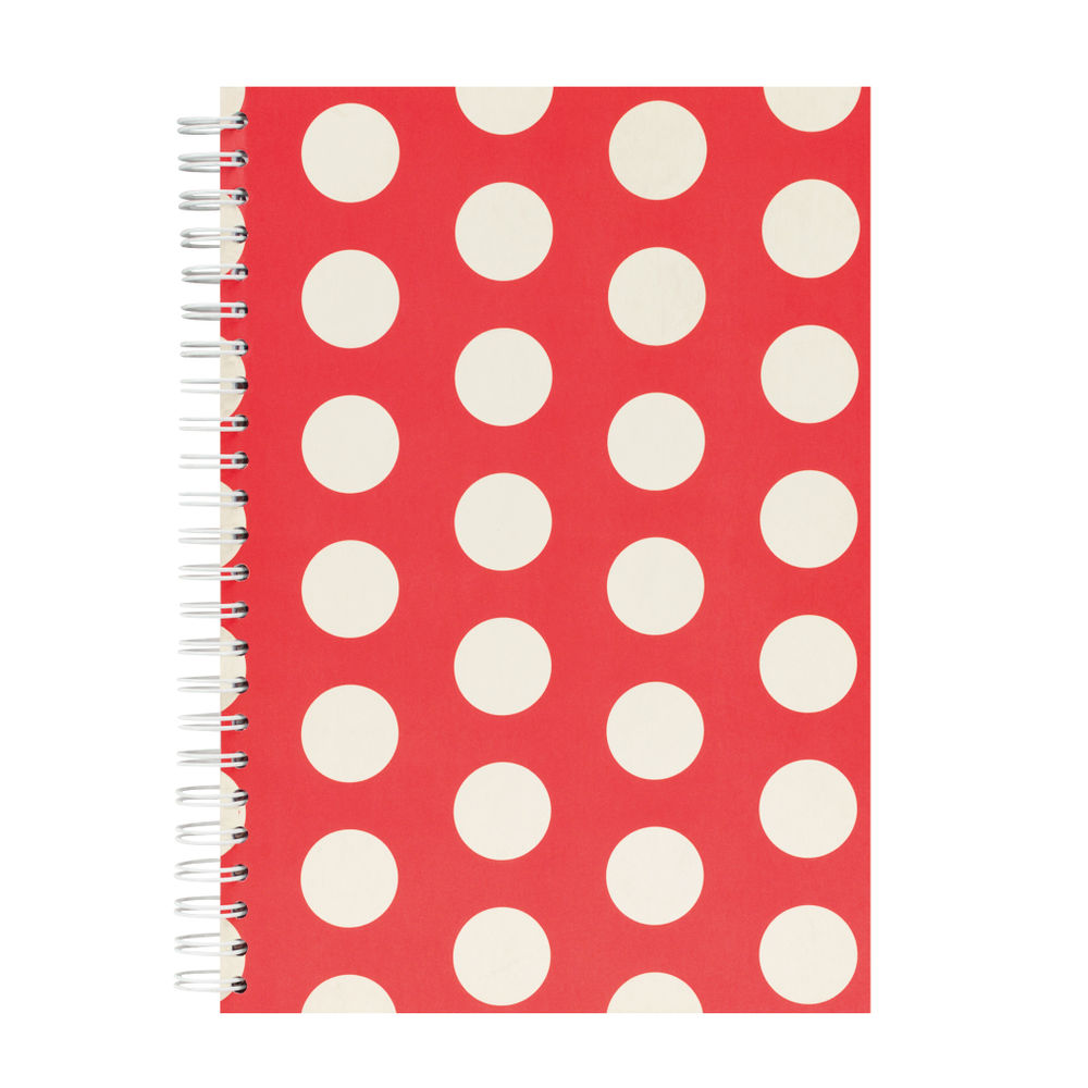 Go Stationery A5 Red Big Polka Notebook | 5NC400A
