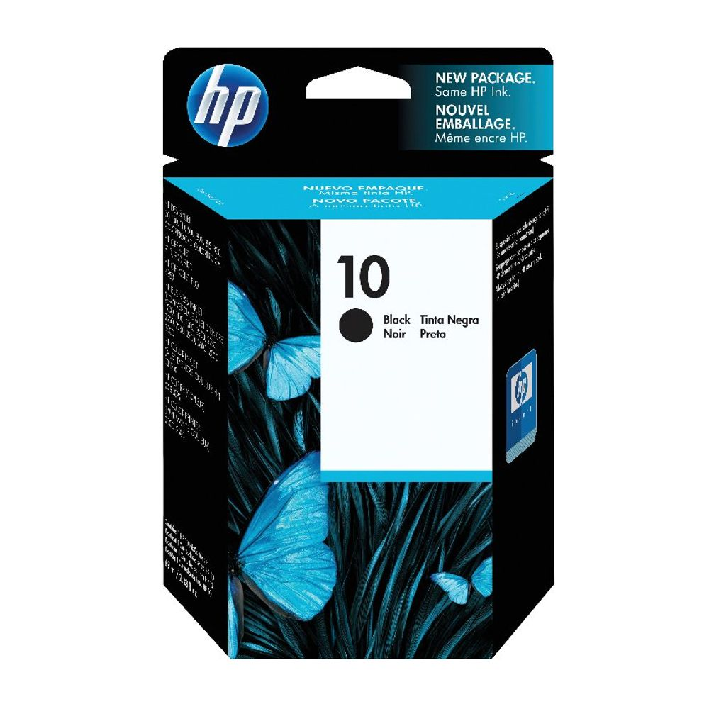 HP 10 Inkjet Black Cartridge 69ml High Capacity | C4844A