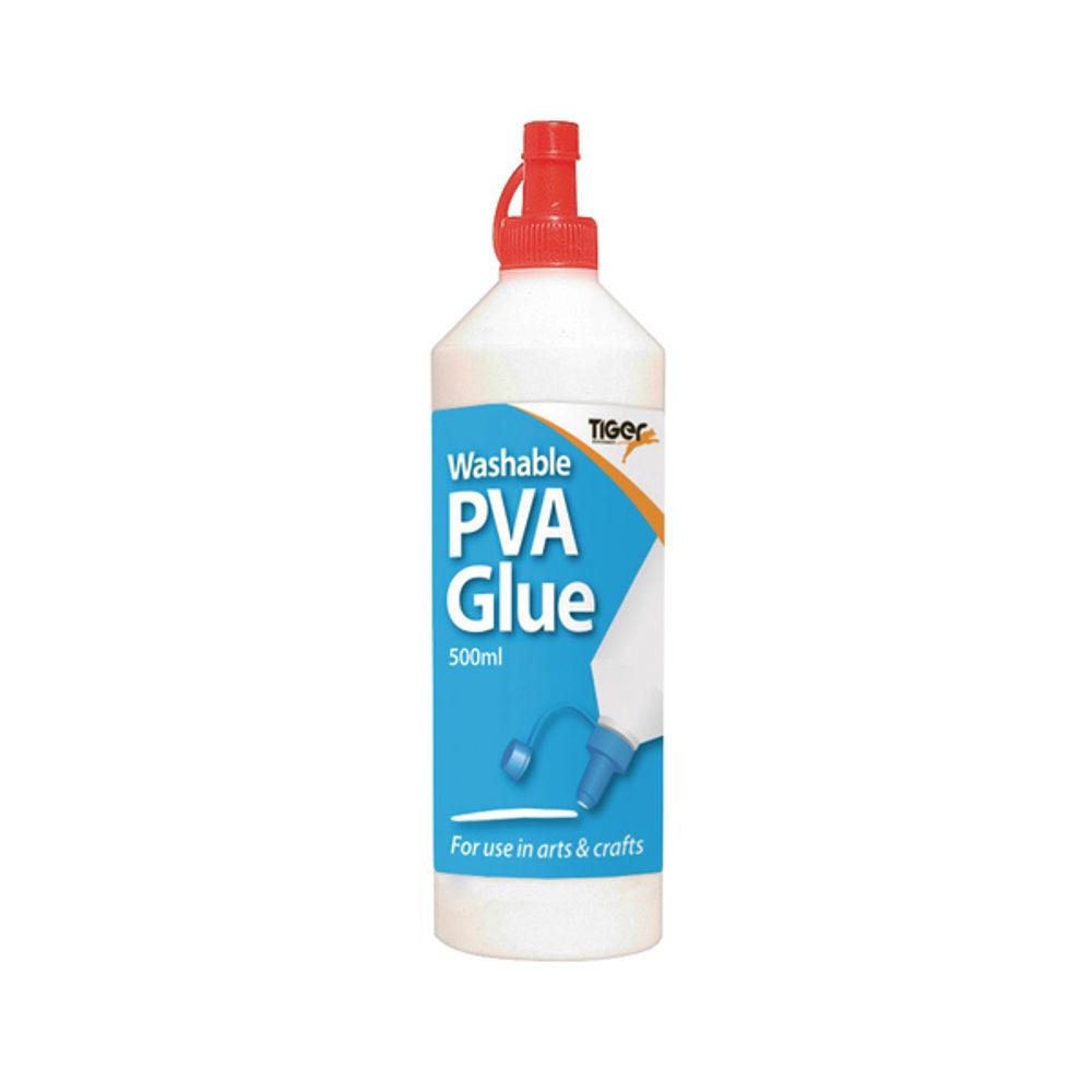 Tiger Washable PVA Glue 500ml (Pack of 12) 301089