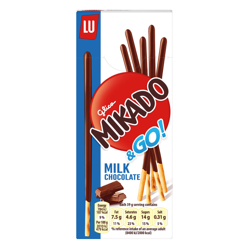 Mikado 39g Milk Sticks Biscuits, Pack of 24 - 750535