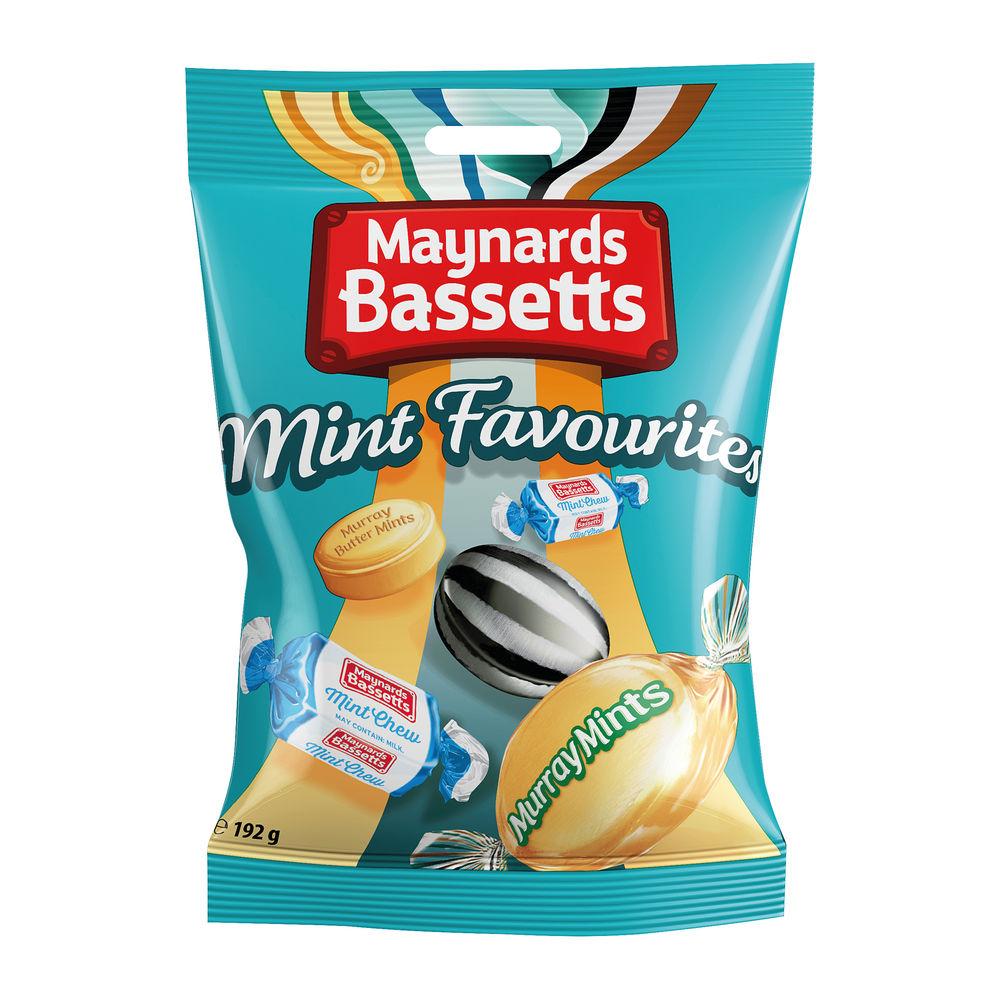 Maynards Bassetts 192g Mint Favourites, Pack of 12 - 4021645