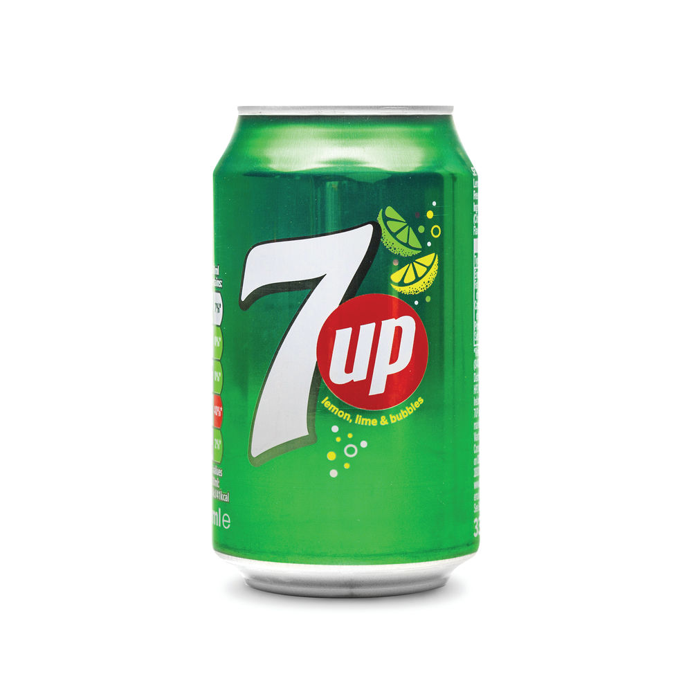 7-Up Lemon and Lime 330ml Cans, Pack of 24 - 402010