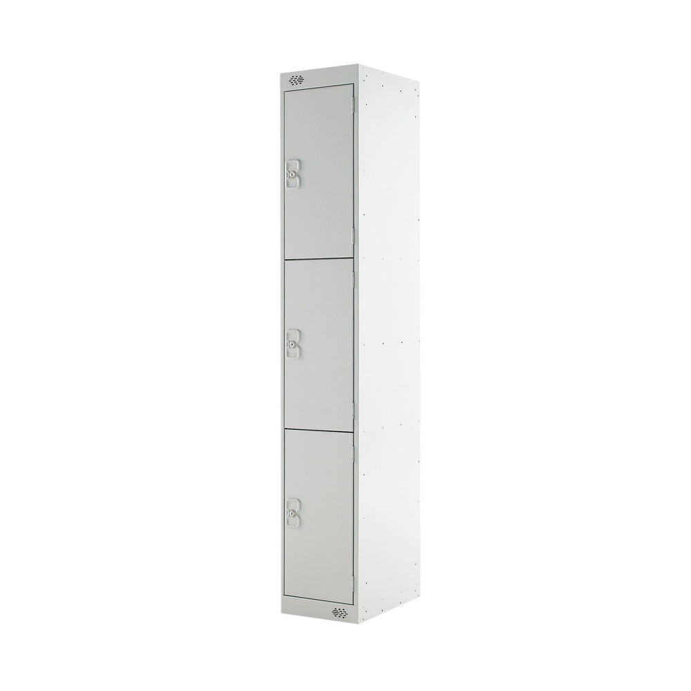 Three Door H1800mm Light Grey Express Standard Locker - MC00143