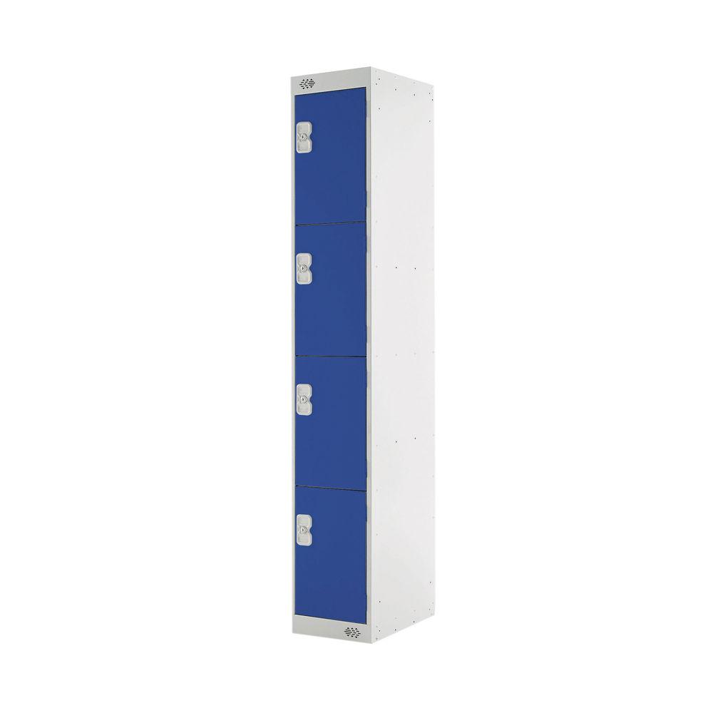 Four Compartment D300mm Blue Express Standard Locker - MC00145